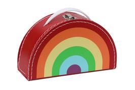 Valise en carton arc en ciel pastel