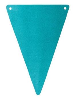 5 fanions triangles vert émeraude pour guirlande fanions