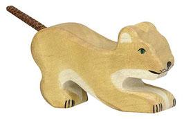 Lion petit jouant Holztiger