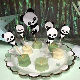 3 Cake Toppers Panda