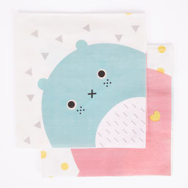 20 serviettes en papier personnages Noodoll my little day
