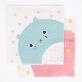 20 serviettes en papier personnages Noodoll