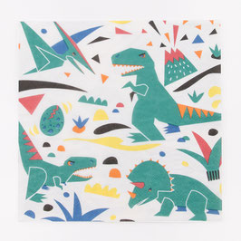 20 serviettes dinosaures my little day