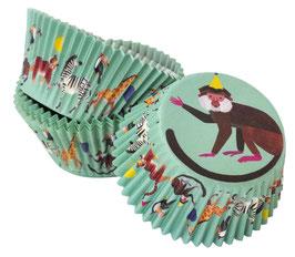 30 Caissettes cupcakes animaux de la Jungle en fête