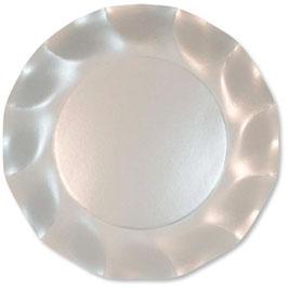 """10 assiettes """"pétales""""blanc nacré 21 cms"""
