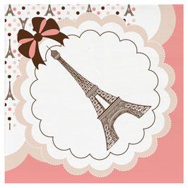 Serviettes en papier thème Paris