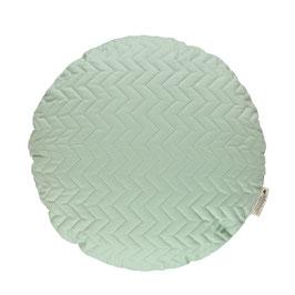Coussin Sitges coloris vert clair de la collection Pure de Nobodinoz