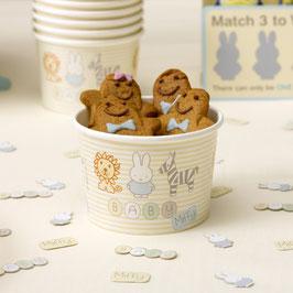 8 coupes glace en carton anniversaire Miffy