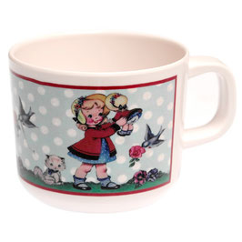 "Tasse "" Dolly Girl"" rétro"