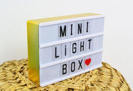 Mini light box format A6 magnétique cadre doré