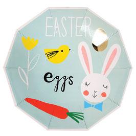 8 assiettes lapin pour décoration fête Pâques