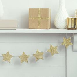 Guirlande étoiles paillettes dorées en carton