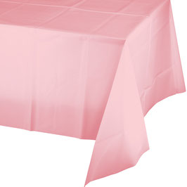 Nappe en plastique rose pastel 137cmsX174cms