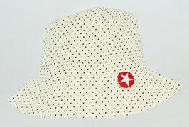 chapeau fond écru pois noirs marque Kik kid