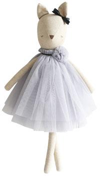 Poupée biche Delores robe tulle gris clair Alimrose