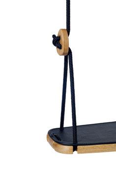 Assise en cuir pour balançoire enfant Classic coloris noir Lillagunga