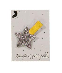 Petite Barrette pince moutarde étoile bronze Luciole et petit pois