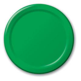 8 assiettes en carton vert