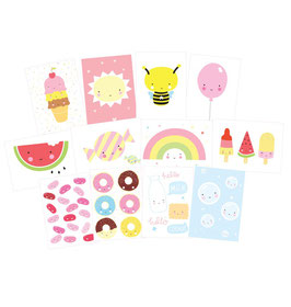 "12 cartes postales ""Cute Kawai"" A little lovely company"