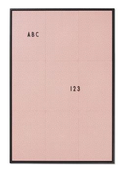 Tableau rose clair pour messages Letter board Design letters format A2 44cmsX65cms