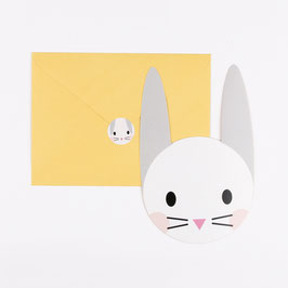 8 invitations lapins avec enveloppes et stickers my little day