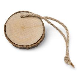 6 rondins de bois décoratifs avec ficelle