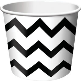 6 coupes glace chevron noir et blanc
