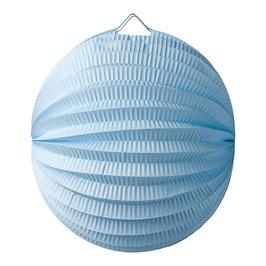Lampion boule en papier bleu ciel 20 cms