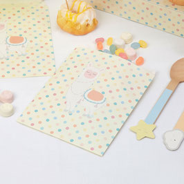 25 Pochettes en Papier Lama Pastel