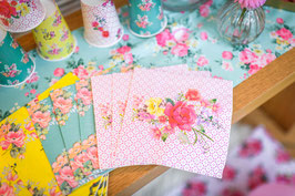16 grandes serviettes liberty tea time