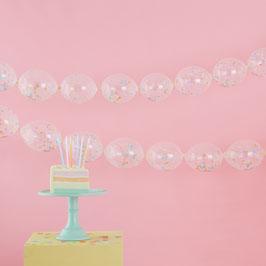 Guirlande 24 Ballons Confettis Pastels à relier