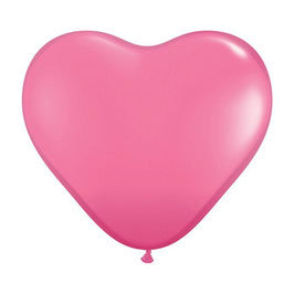 10 ballons coeurs rose bonbon en latex
