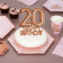 "Décoration gateau ""Happy birthday 20 "" imprimé"