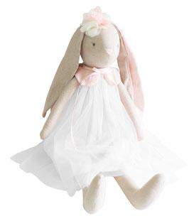 Grande poupée lapin ballerine Bessie ivoire Alimrose 70cms