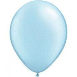 10 ballons bleu ciel métallisés nacrés en latex