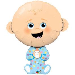 """Ballon métallique """"Baby boy"""" hauteur 35cms"""
