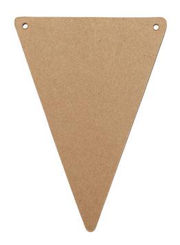 5 fanions triangles kraft