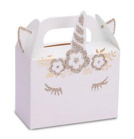 8 petites boites licornes dorées