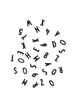 Lettres noires pour tableau Design letters