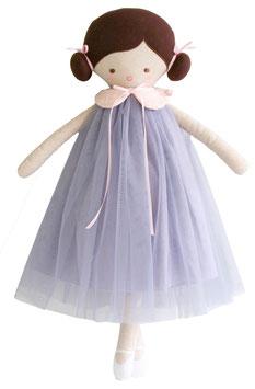 Poupée Lulu robe mauve  Alimrose 48cms