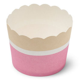 25 cupcakes rose pastel blanc beige