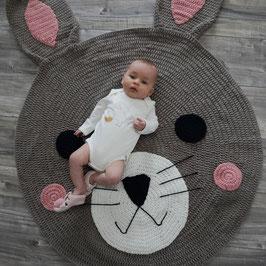 Tapis lapin tricoté main en coton Mooi Baby