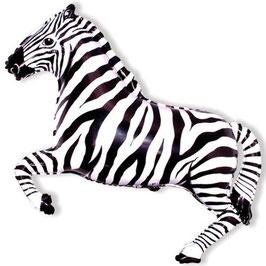 Ballon métallique zebre