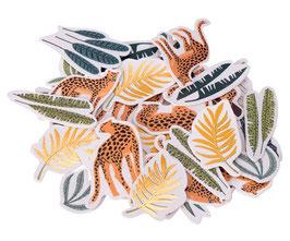 100 Confettis de Table Léopard Jungle