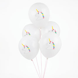 5 ballons imprimés Licornes My little day
