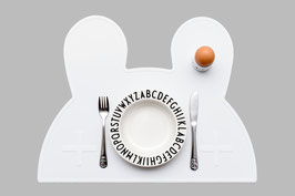 Set de table en silicone lapin blanc We might be tiny