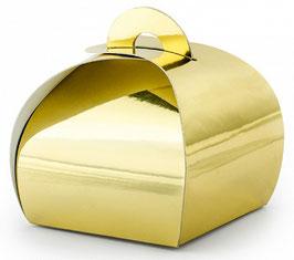 10 Boites Ballotins Cadeaux Or Brillant