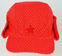 casquette fond rouge pois blancs bord ajustable Kik kid