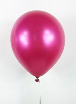 10 ballons fushias métallisés nacrés en latex
