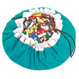 Sac de rangement et tapis de jeu couleur bleu turquoise Play and go
